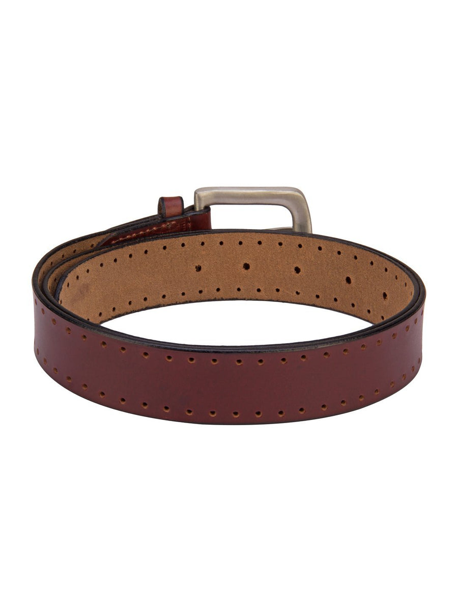 Asics Leather Belt With Metal Buckle - Jump USA