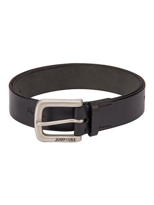 Snipes Leather Black Belt With Metal Buckle