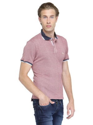 Men's Solid Polo Collor T-Shirt