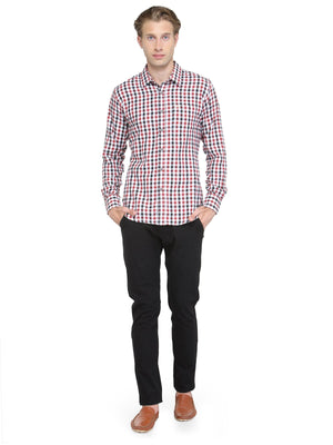 Men's Slim Fit Full Sleeve Check Shirt