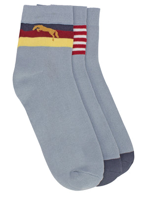 Men Pack of 3 Ankle Length socks - Jump USA