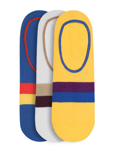 JUMP USA Women's Cotton Shoe Liner Socks ( Blue, Red, Yellow, Free Size) Pack of 3 - JUMP USA