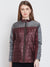Women Casual Maroon Quilted Jacket