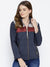 Women Navy Blue Puffer Jacket