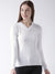 Women Cotton Casual Long Sleeve  White Winter Sweaters