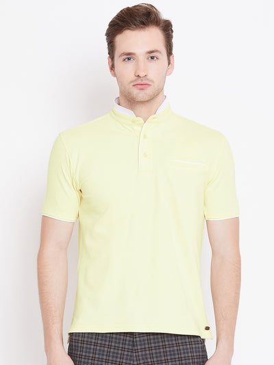 JUMP USA Men Yellow Polo T-Shirt - JUMP USA