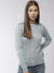 Women Solid Blue Pullover