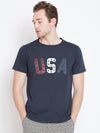 JUMP USA Men Navy Blue Printed Casual T-shirt_1