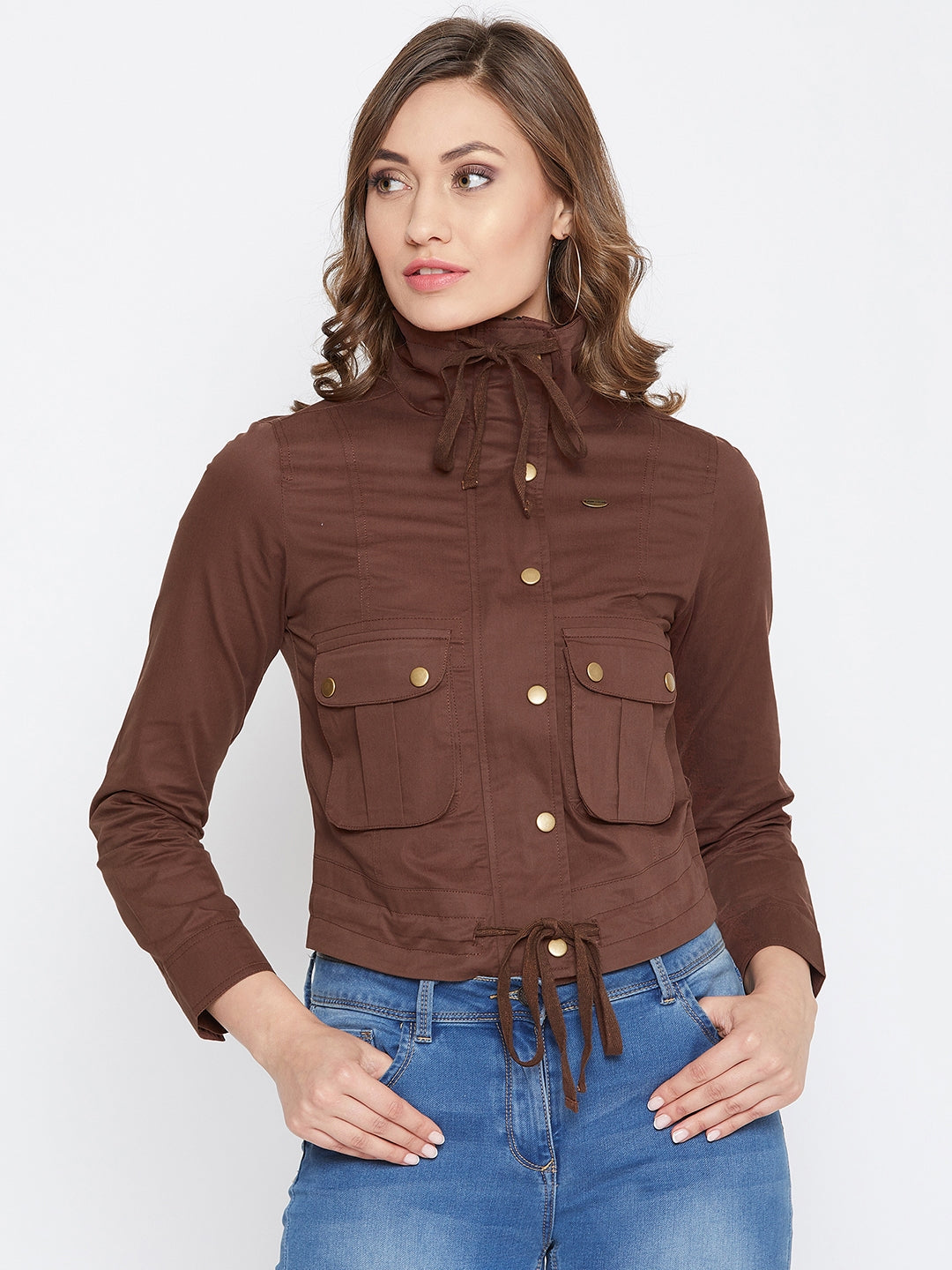 JUMP USA Women Rust Casual Tailored Jacket - JUMP USA