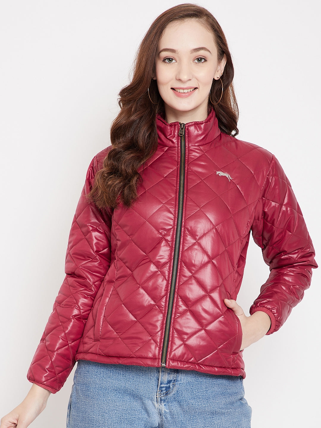 JUMP USA Women Red Quilted Jackets