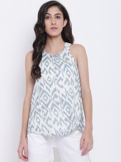 Women White Casual Tops - JUMP USA