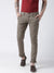 Men Brown Slim Fit Solid Chinos