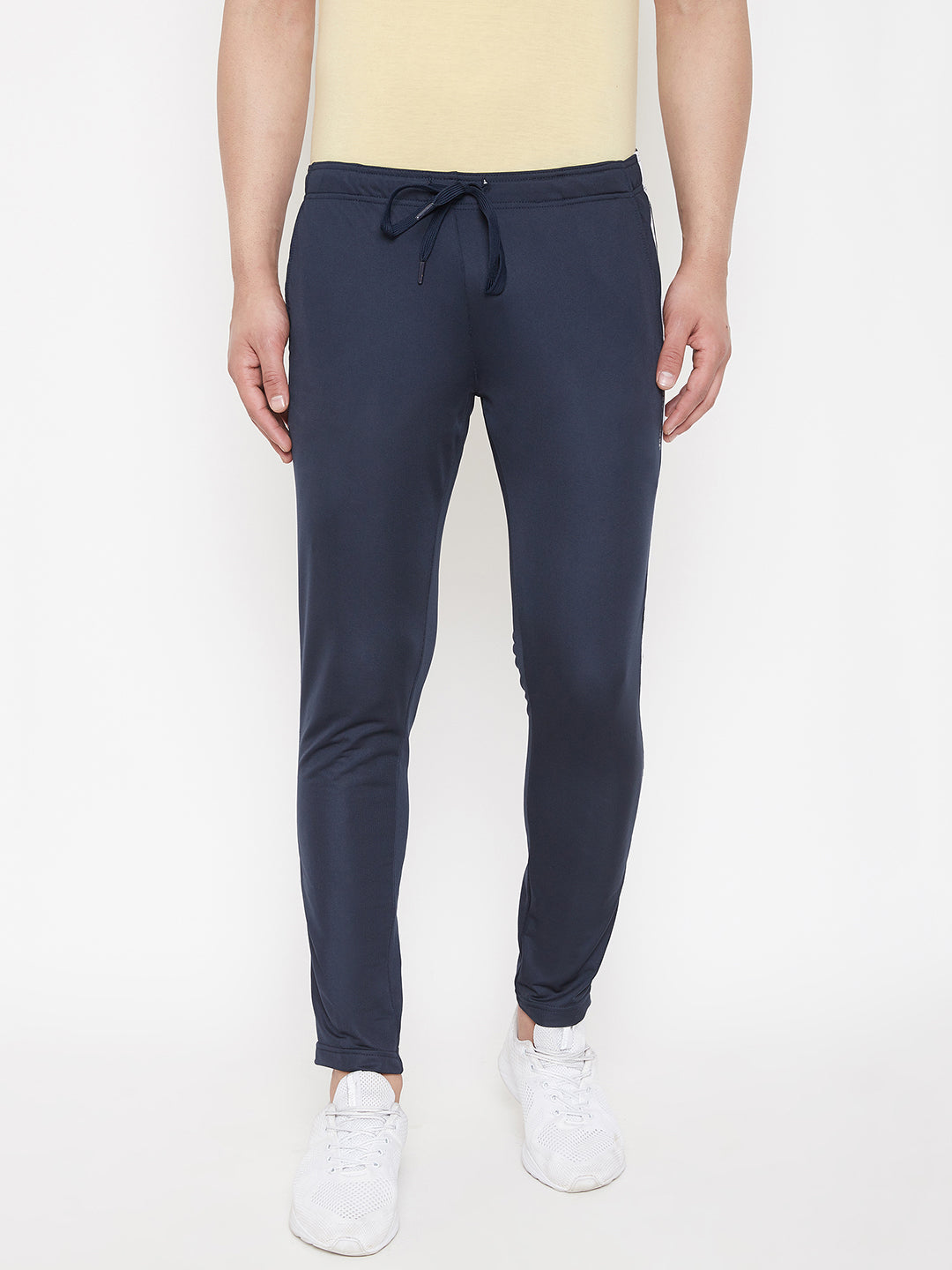 JUMP USA Men Navy Blue Solid Track Pant - JUMP USA