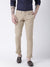 Men Beige Slim Fit Solid Chinos