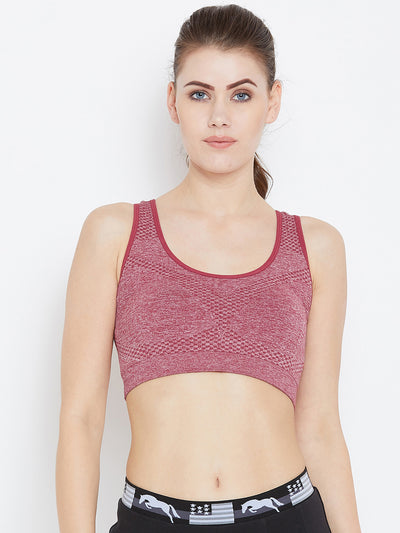 JUMP USA Women Red Non-Wired Lightly Padded Sports Bra - JUMP USA