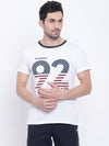 Men Casual Striped White T-shirt - JUMP USA