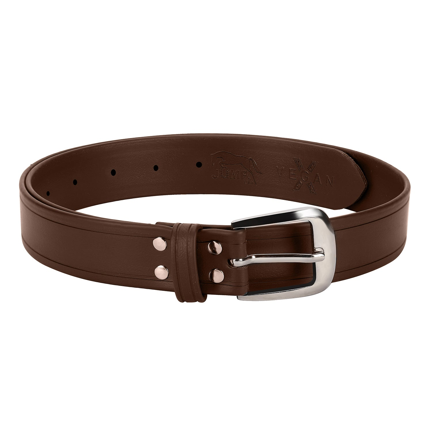 Casual Brown Color Synthetic Leather Belts For Men