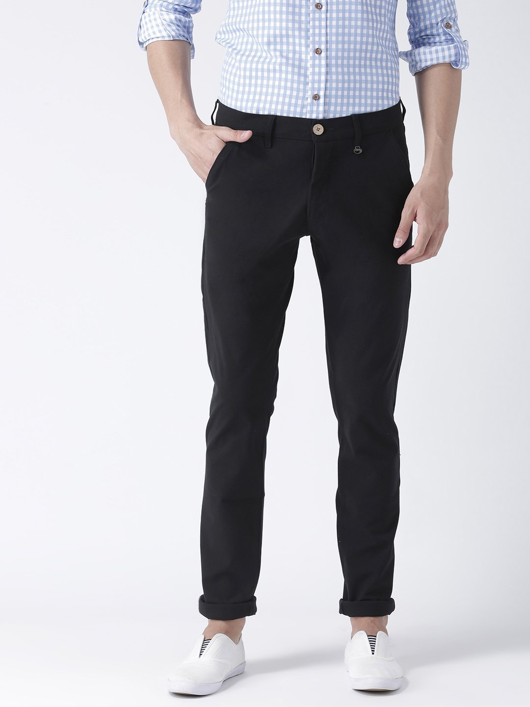 Men Flat Front Formal Trouser