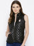 Women Black Quilted Jacket