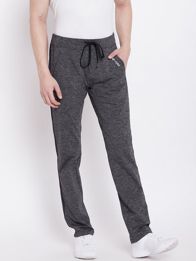 JUMP USA Men Grey Active Wear Solid Track Pant - JUMP USA