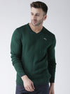 Men Green self Design Pullover - JUMP USA