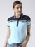 Women Blue and Navy Blue Polo T-shirt
