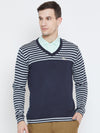 Men Navy Blue Casual Sweaters - JUMP USA