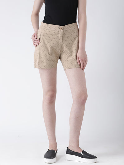 Women Cotton Printed Regular Shorts - JUMP USA
