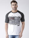 Men Casual Printed White T-shirt - JUMP USA