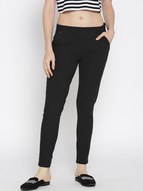 Women Solid Slim Fit Chinos - JUMP USA