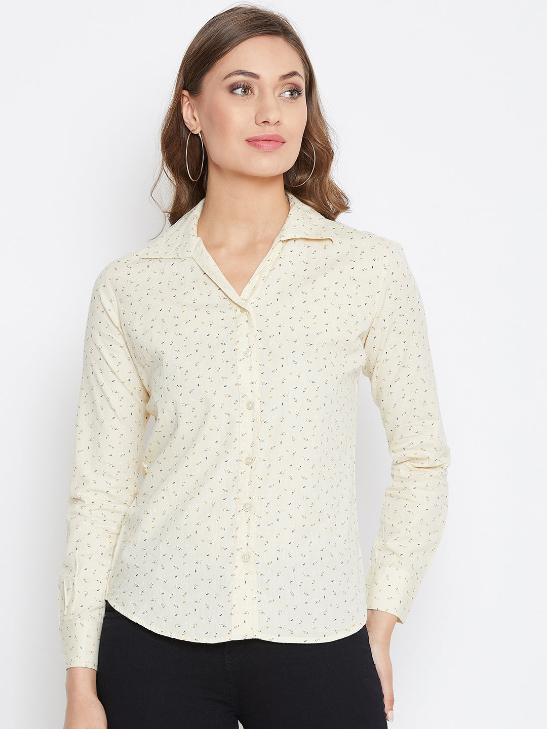 JUMP USA Women Regular Fit Butter Casual Shirt