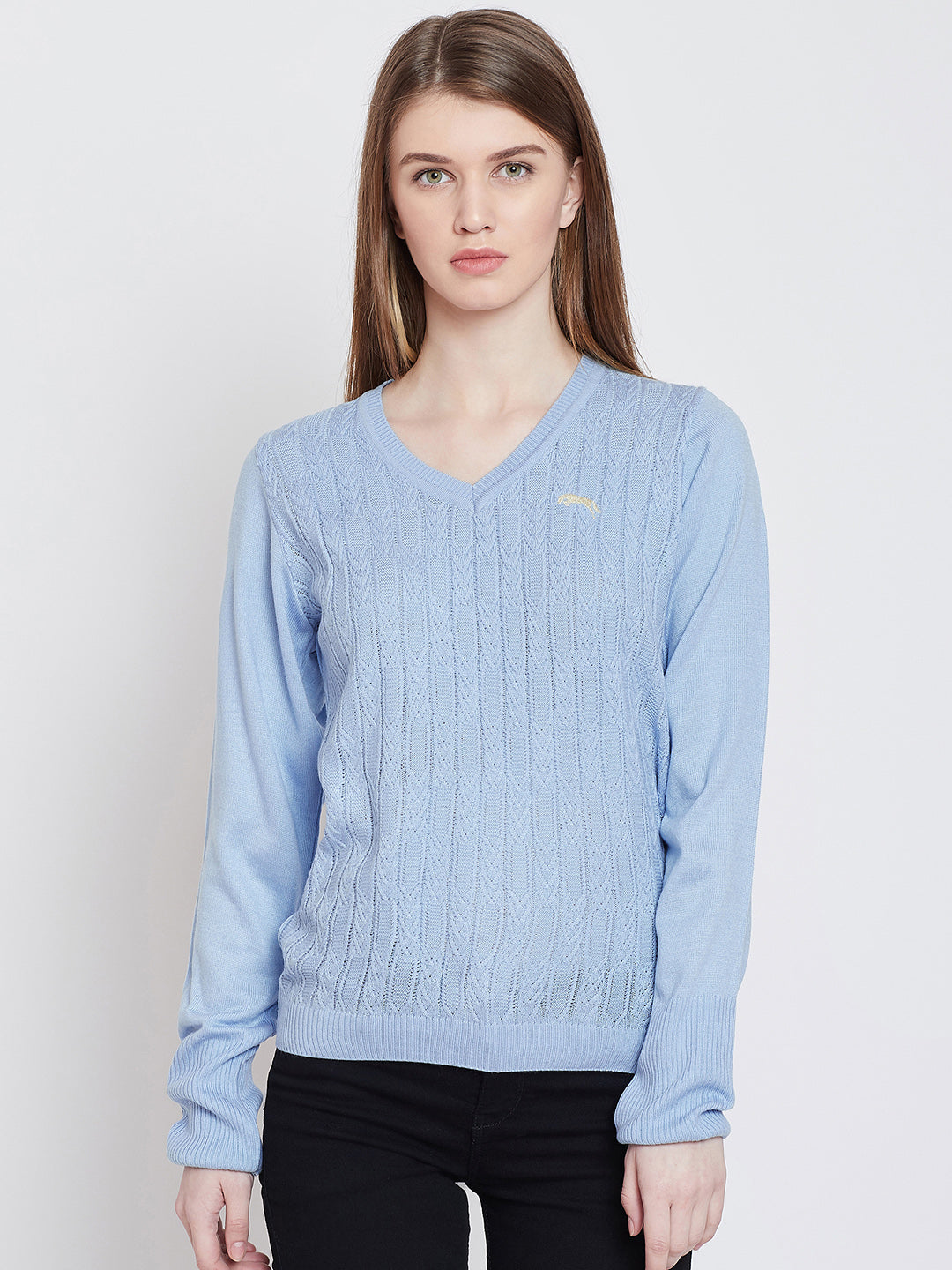 Women Blue Casual Sweaters
