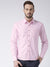 Men Pink Solid Cotton Slim Fit Shirt