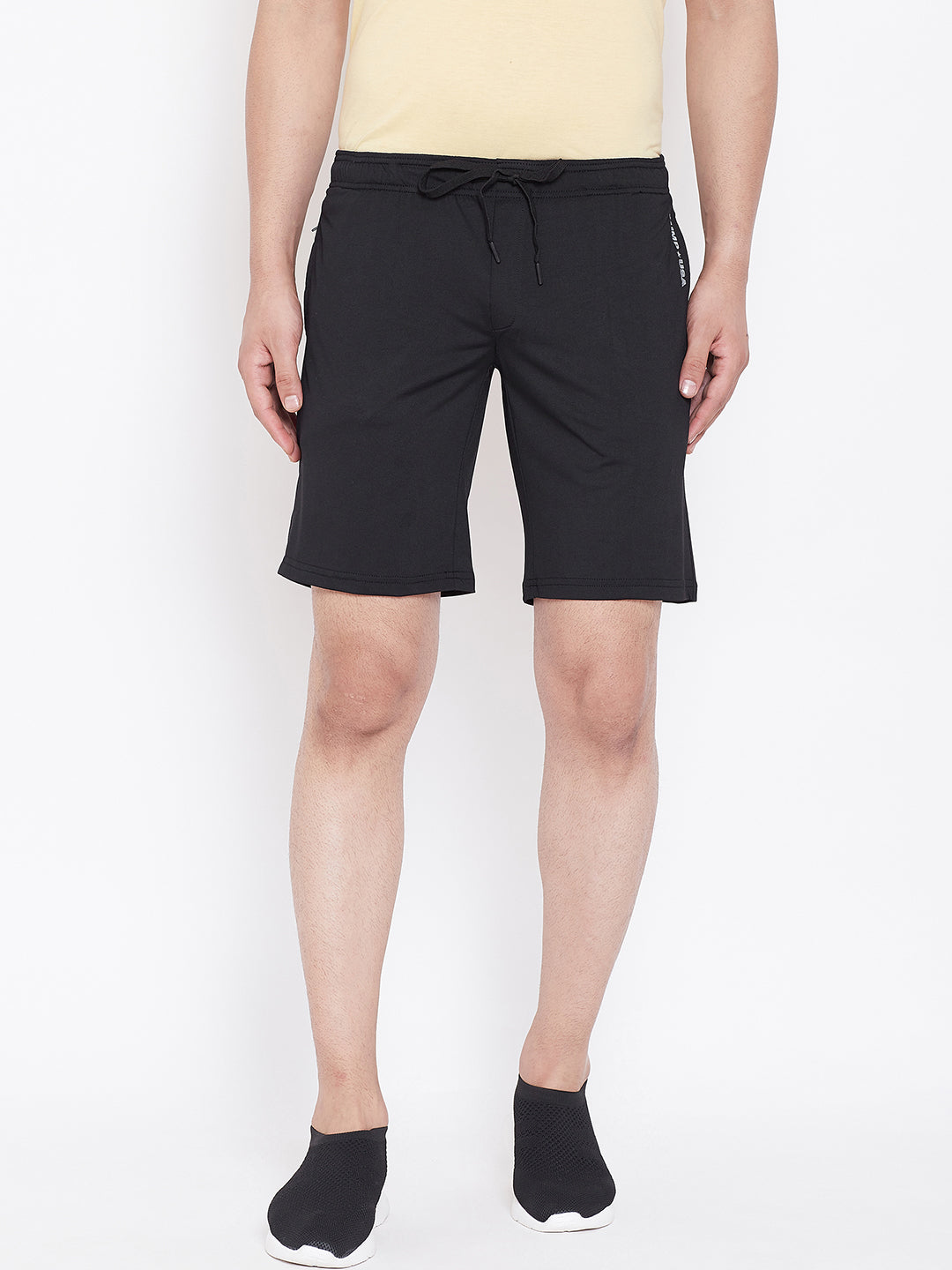 JUMP USA Men Black Solid Active Wear Shorts