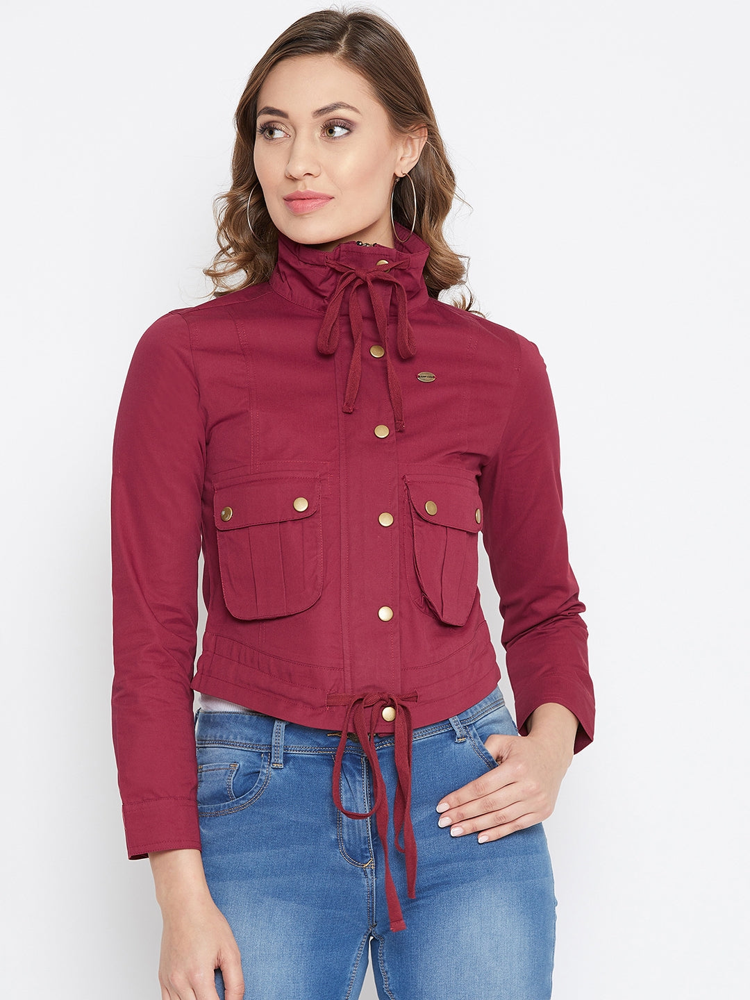 JUMP USA Women Red Casual Tailored Jacket