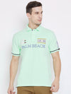 JUMP USA Men Teal Casual Polos t-Shirt_1