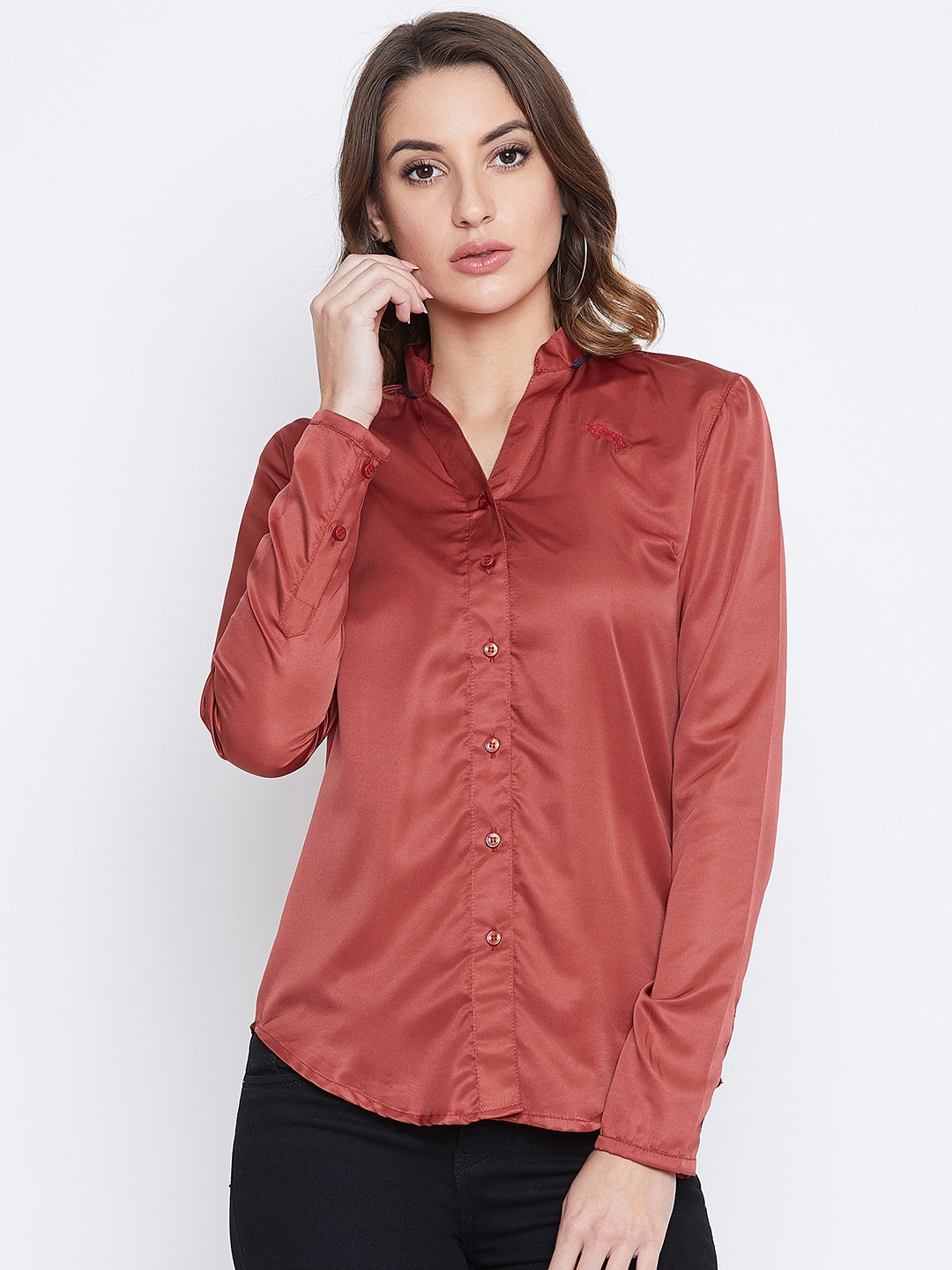 JUMP USA Women Red Solid Casual Shirts