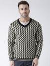 Men Black and Beige Colourblocked Pullover - JUMP USA
