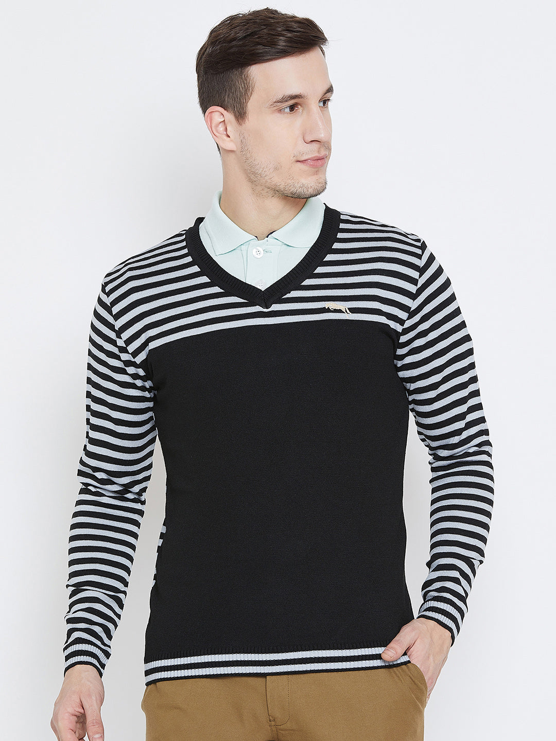 Men Black Casual Sweaters