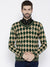 Men Green and Beige Colourblocked Pullover
