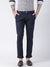 Men Navy Blue Slim Fit Solid Chinos