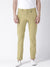 Men Khaki Slim Fit Solid Chinos