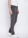 Men Casual Solid Charcoal Chinos - JUMP USA