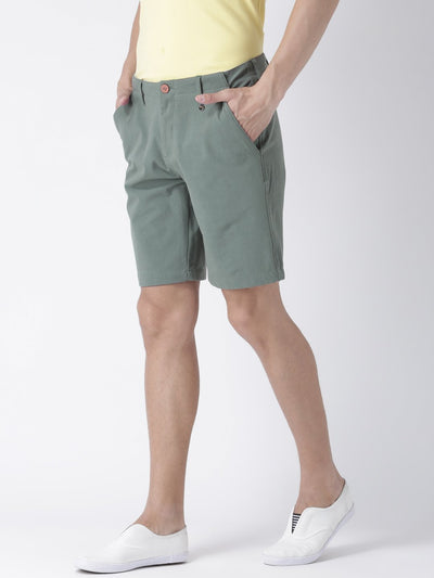 Casual Men Solid Slim Fit Grey Chino Shorts - JUMP USA