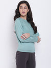 Women Blue Casual Sweaters - JUMP USA