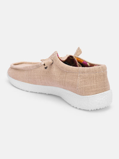 Women Beige Casual Canvas Slip-On Sneakers Shoes - JUMP USA