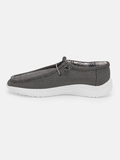 Women Black Casual Canvas Slip-On Sneakers Shoes - JUMP USA