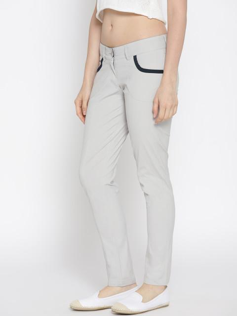 Women Solid Slim Fit Trousers