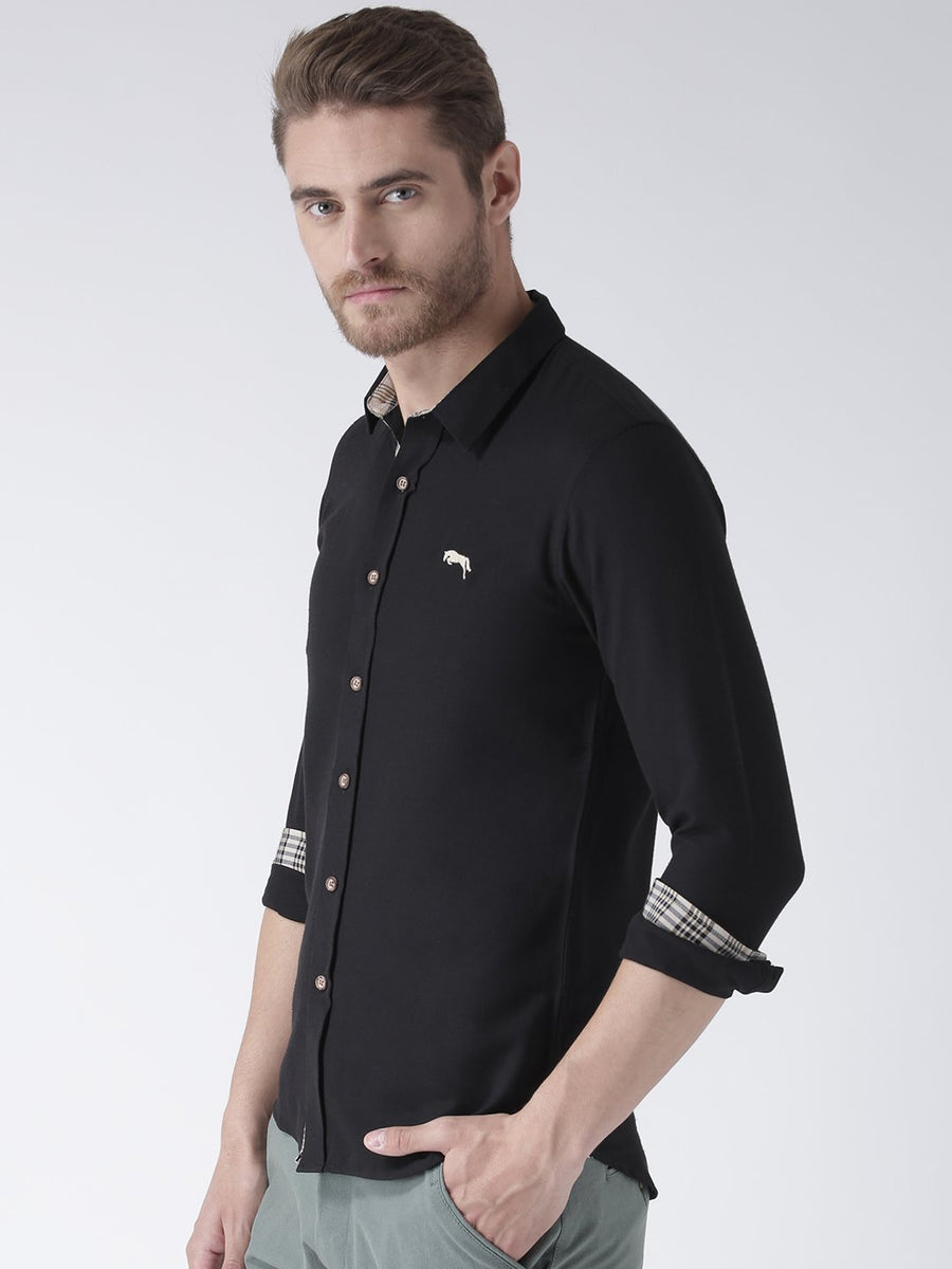 Black Bamboo Cotton & Micro Polyester Shirt - Jump USA