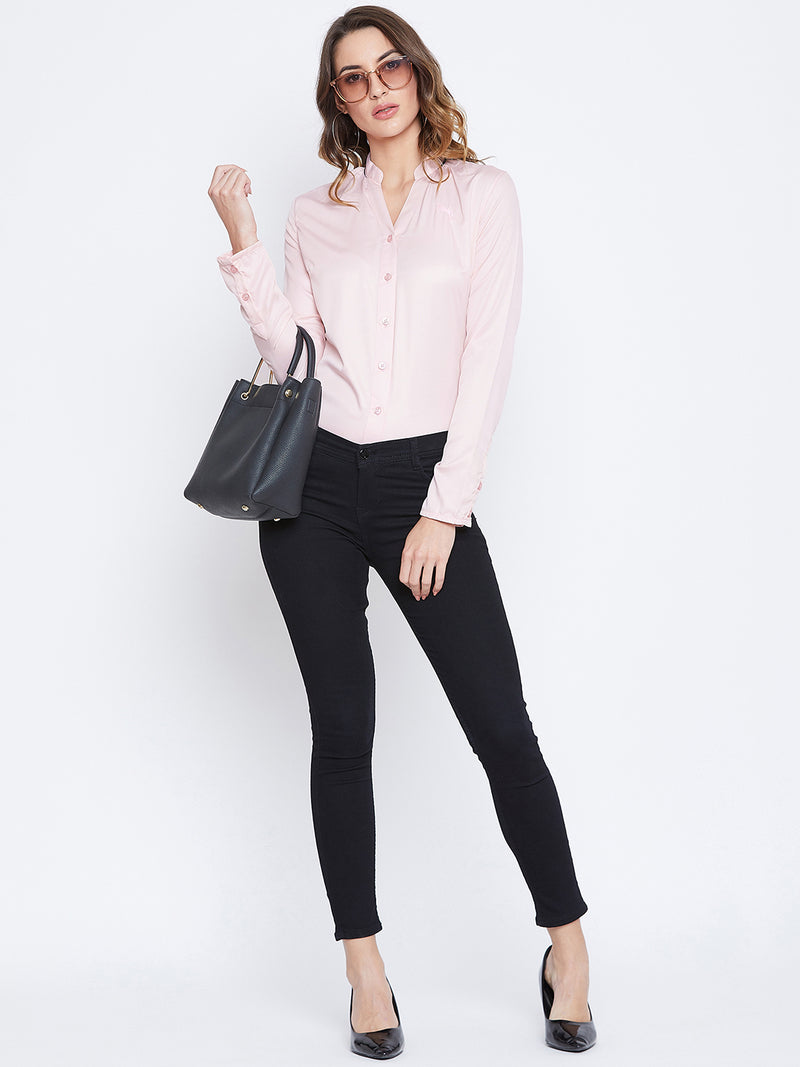 JUMP USA Women Pink Solid Casual Shirts - JUMP USA